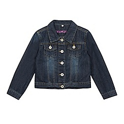bluezoo - Girls' dark blue pocketed denim jacket