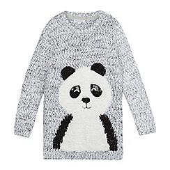 bluezoo - Girls' grey panda tunic