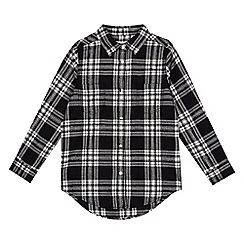 bluezoo - Girls' black and white checked shirt