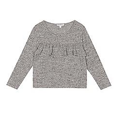bluezoo - Girls' grey ruffle top