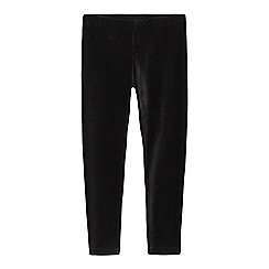 bluezoo - Girls' black velour leggings
