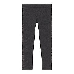 bluezoo - Girls' grey sequin embellished leggings