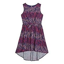 bluezoo - Girls' purple butterfly print dress