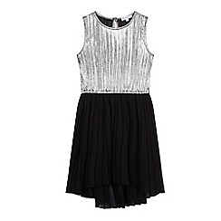 bluezoo - Girls' black and silver pleated dress