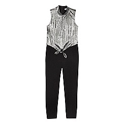 bluezoo - Girls' silver and black jumpsuit