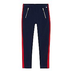 J by Jasper Conran - Girls' navy contrasting panel zip leggings