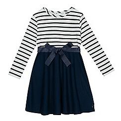 J by Jasper Conran - Girls' navy striped dress
