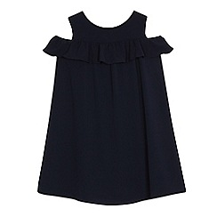 J by Jasper Conran - Girls' navy cold shoulder dress