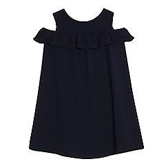 J by Jasper Conran - Girls' navy cold shoulder dress