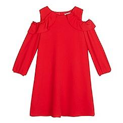J by Jasper Conran - Girls' red cold shoulder dress
