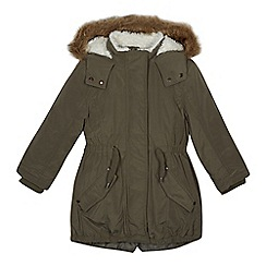Mantaray - Girls' khaki 3-in-1 parka coat