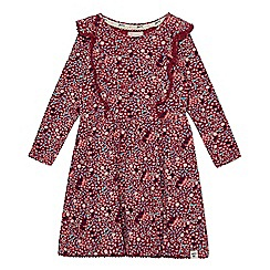 Mantaray - Girls' dark pink floral print dress