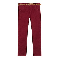 Mantaray - Girls' wine red corduroy trousers