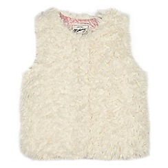 Mantaray - Girls' cream fluffy gilet