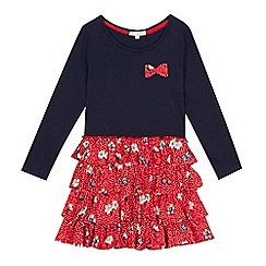 bluezoo - Girls' red and navy cherry print dress