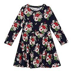 bluezoo - Girls' navy floral print dress