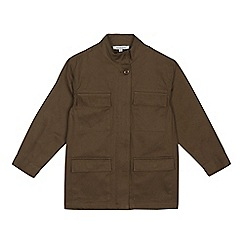 bluezoo - Boys' khaki shacket