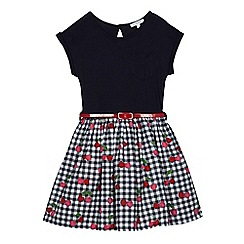 bluezoo - Girls' navy mock dress