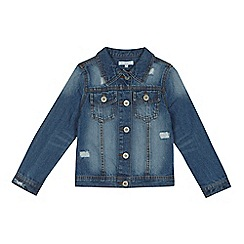 bluezoo - 'Girls' blue distressed denim jacket
