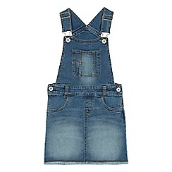 bluezoo - 'Girls' blue denim pinafore dress