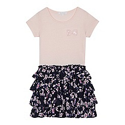bluezoo - Girls' pink floral print rara dress