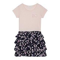 bluezoo - Girls' pink floral print rara dress