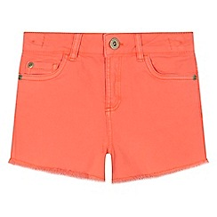 bluezoo - 'Girls' coral denim shorts