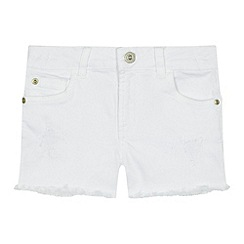 bluezoo - 'Girls' white denim shorts