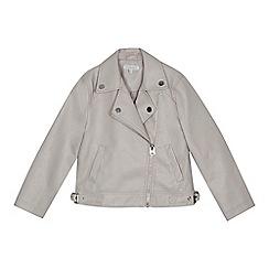 bluezoo - Girls' pink leatherette biker jacket
