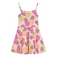 bluezoo - 'Girls' pink pineapple print skater dress