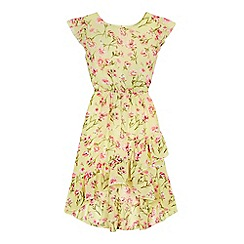 bluezoo - 'Girls' yellow floral print dress