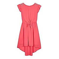 bluezoo - 'Girls' pink tie front dress