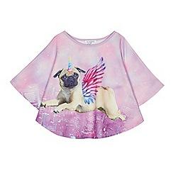 bluezoo - Girls' multi-coloured unicorn-pug cape top