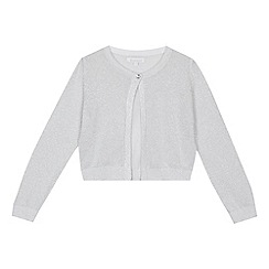 bluezoo - 'Girls' silver glitter long sleeve cardigan