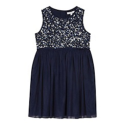 bluezoo - 'Girls' navy sequinned dress