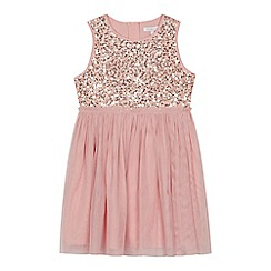 bluezoo - 'Girls' pink sequinned dress
