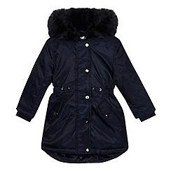 bluezoo - 'Girls' navy shower resistant parka coat