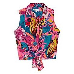 bluezoo - Multi-coloured tropical print blouse