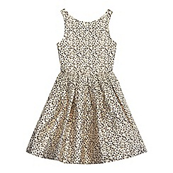 bluezoo - 'Girls' gold butterfly textured prom dress