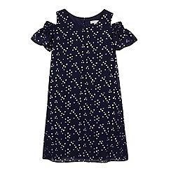 bluezoo - 'Girls' navy star print dress