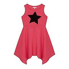 bluezoo - 'Girls' pink sequinned star skater dress
