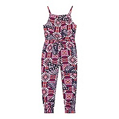 bluezoo - Girls' multi-coloured tropical print jumpsuit
