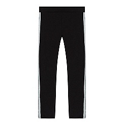 bluezoo - Girls' black glitter side stripe leggings