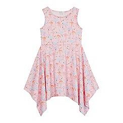 bluezoo - Girls' multi-coloured flamingo print dress