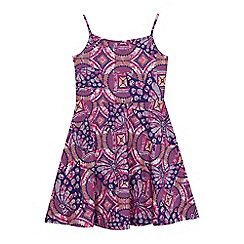 bluezoo - Girls' purple printed skater dress