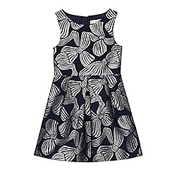 J by Jasper Conran - Girls' navy bow print dress