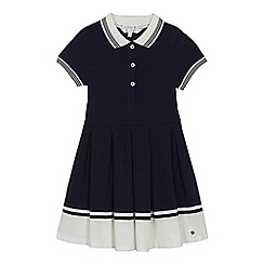 J by Jasper Conran - Girls' navy pique tipped dress