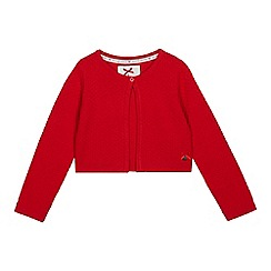 J by Jasper Conran - Girls' Dark Red Textured Cardigan
