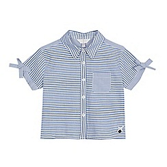 J by Jasper Conran - Girls' light blue striped shirt