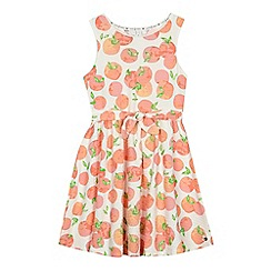 J by Jasper Conran - 'Girls' orange apricot print jersey dress